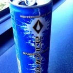 Opened can of Liquid Ice Blue energy drink